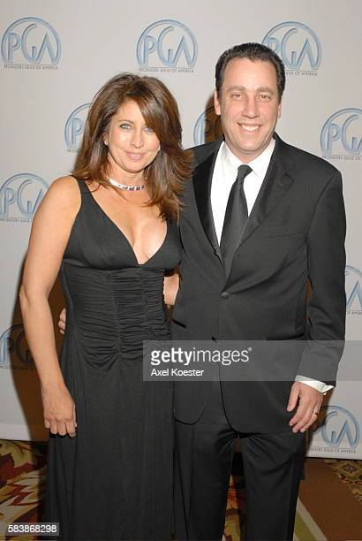 Producer David Friendly and wife Priscilla arrive to the Producers Guild of Amercia Awards banquet at the Hyatt Regency Century Plaza Hotel in Los...