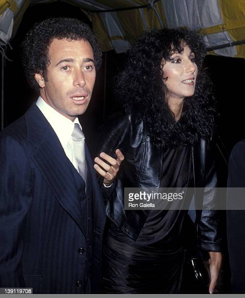 Producer David Geffen and singer Cher attend Yves Saint Laurent's 'Opium' Perfume Launch Party on September 20 1978 aboard The Peking South Street...