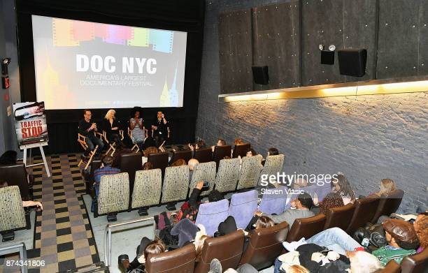 Producer David Heilbroner director Kate Davis subject of documentary Breaion King and moderator Opal Bennett speak on stage after the DOC NYC...