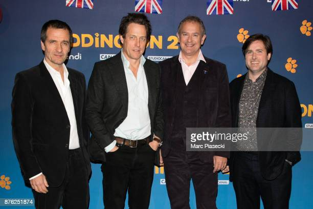 Producer David Heyman actors Hugh Grant and Hugh Bonneville and director Paul King attend the 'Paddington II' Premiere at L'Olympia on November 19...