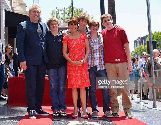 Producer David Hunt Dan Hunt actress Patricia Heaton Sam Hunt Joe Hunt and John Hunt attend a ceremony honoring Patricia Heaton with the 2472nd star...