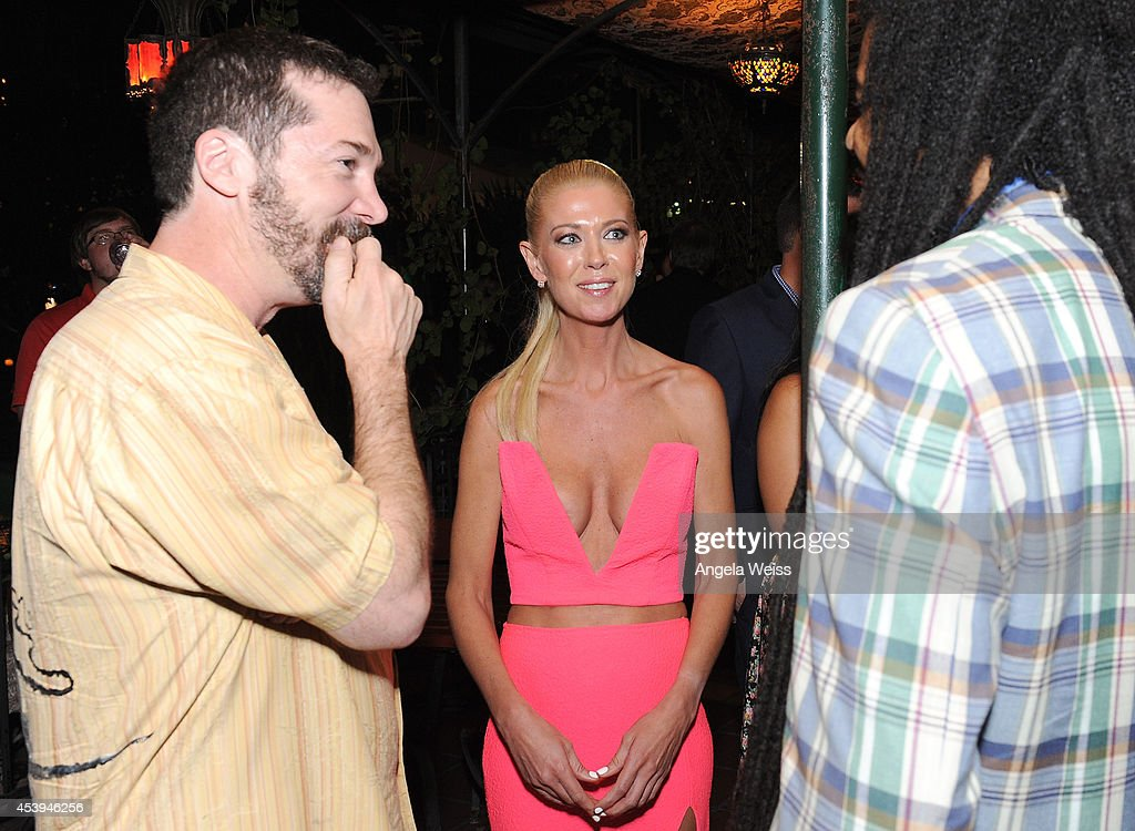 Producer David Latt, actress Tara Reid and Zerzsez Thompson attend the premiere of The Asylum & Fathom Events' 'Sharknado 2: The Second One' at Regal Cinemas L.A. Live on August 21, 2014 in Los Angeles, California.