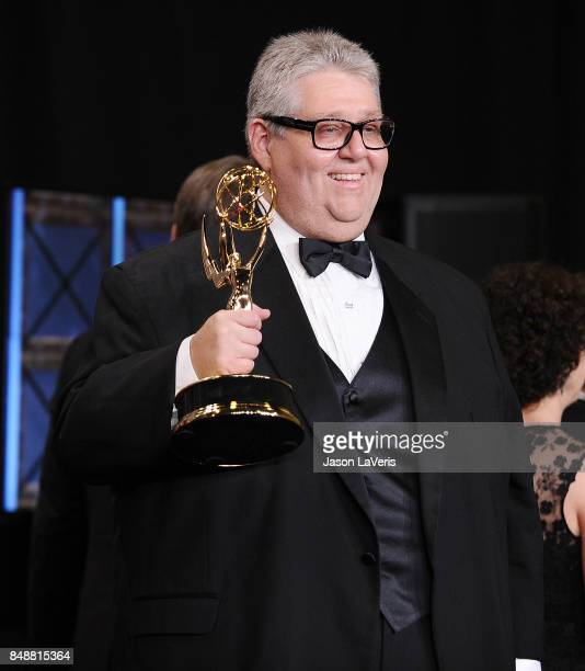 Producer David Mandel poses in the press room at the 69th annual Primetime Emmy Awards at Microsoft Theater on September 17 2017 in Los Angeles...