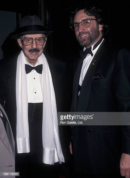 Producer David Merrick and actor Ron Silver attending 50th Annual Tony Awards on June 9 1996 at the Majestic Theater in New York City New York