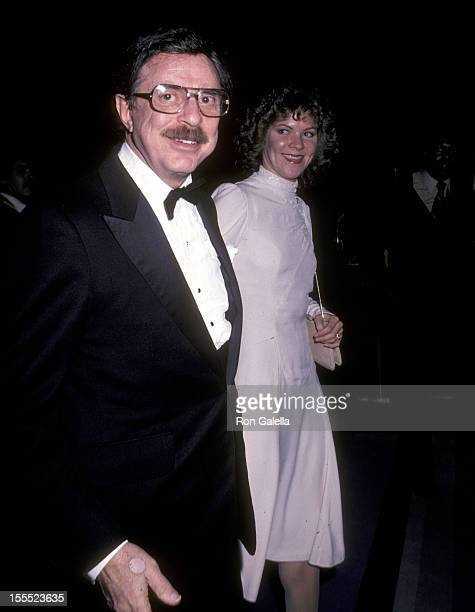 Producer David Merrick and wife Karen Prunczik attend the Cats Opening Night Performance on October 7 1982 at Winter Garden Theatre in New York City