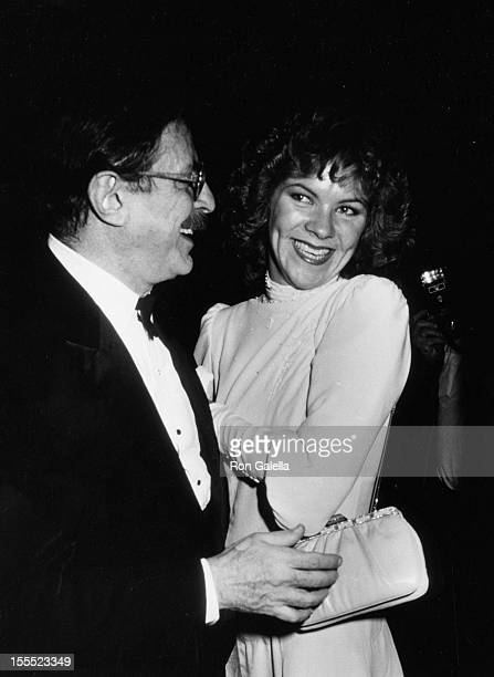 Producer David Merrick and wife Karen Prunczik attend the opening party for Cats on October 7 1982 at the Waldorf Hotel in New York City