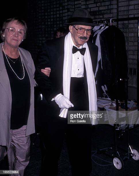 Producer David Merrick and wife Natalie Lloyd attend the 50th Annual Tony Awards on June 2 1996 at the Majestic Theatre in New York City