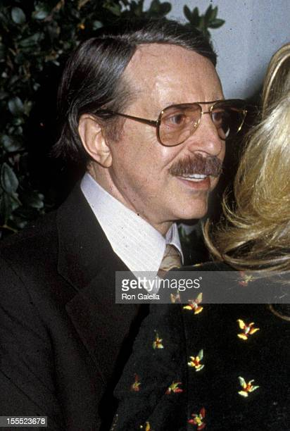 Producer David Merrick attends The First Great Train Robbery Premiere Party on January 29 1979 at Chasen's Restaurant in Beverly Hills California