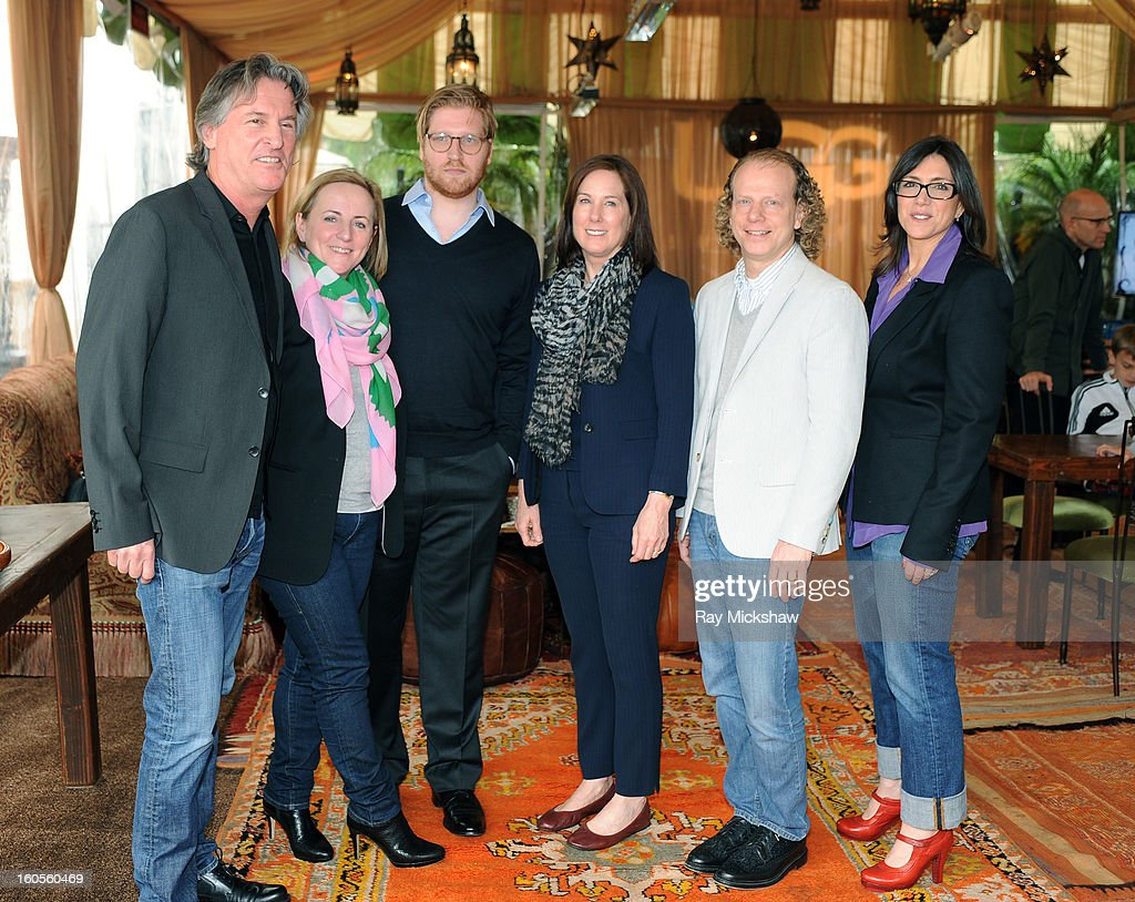 Producer David Womark, Debra Hayward, Dan Janvey, Kathleen Kennedy, <a gi-track='captionPersonalityLinkClicked' href=/galleries/search?phrase=Bruce+Cohen&family=editorial&specificpeople=820103 ng-click='$event.stopPropagation()'>Bruce Cohen</a> and <a gi-track='captionPersonalityLinkClicked' href=/galleries/search?phrase=Stacey+Sher&family=editorial&specificpeople=2082596 ng-click='$event.stopPropagation()'>Stacey Sher</a> attend the 28th Santa Barbara International Film Festival Producers Panel on February 1, 2013 in Santa Barbara, California.