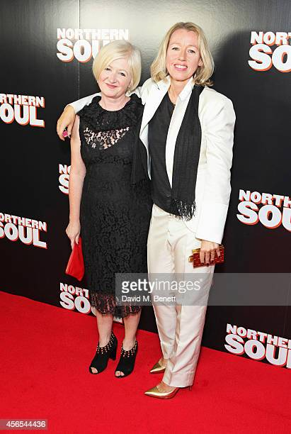Producer Debbie Gray and director Elaine Constantine attend a Gala Screening of 'Northern Soul' at the Curzon Soho on October 2 2014 in London England