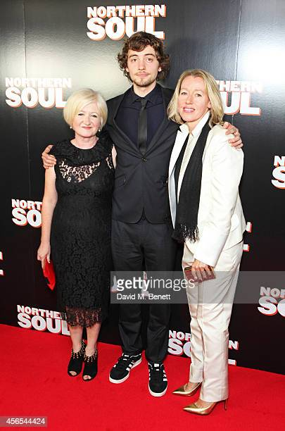 Producer Debbie Gray Josh Whitehouse and director Elaine Constantine attend a Gala Screening of 'Northern Soul' at the Curzon Soho on October 2 2014...