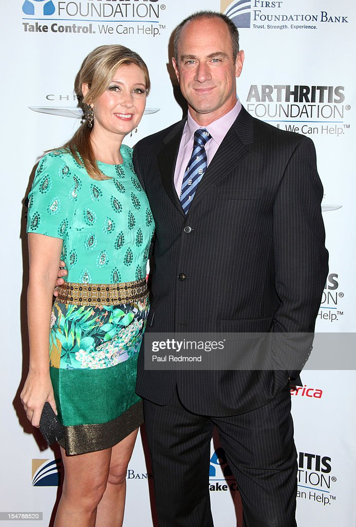 Producer Deborah Snyder and actor <a gi-track='captionPersonalityLinkClicked' href=/galleries/search?phrase=Christopher+Meloni&family=editorial&specificpeople=220830 ng-click='$event.stopPropagation()'>Christopher Meloni</a> attend The Arthritis Foundation's Annual Gala Honoring Danny Glover at The Beverly Hilton Hotel on October 25, 2012 in Beverly Hills, California.