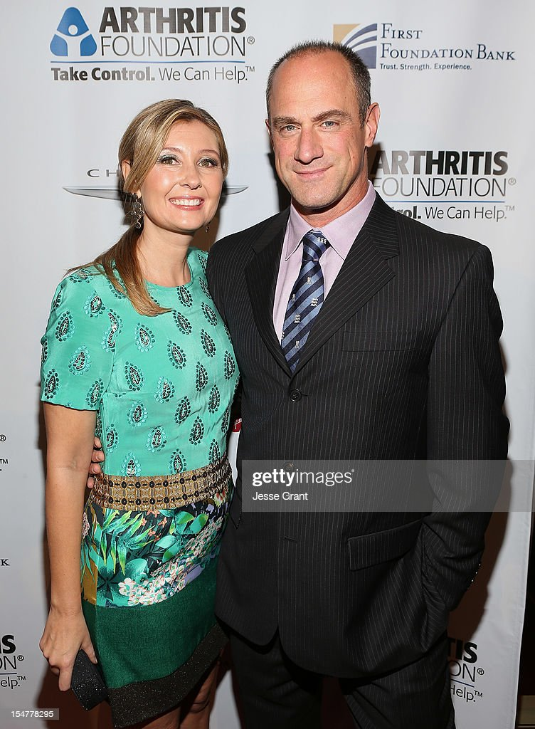 Producer Deborah Snyder and actor <a gi-track='captionPersonalityLinkClicked' href=/galleries/search?phrase=Christopher+Meloni&family=editorial&specificpeople=220830 ng-click='$event.stopPropagation()'>Christopher Meloni</a> attend the Arthritis Foundation 'Commitment to a Cure' 2012 Awards Gala at The Beverly Hilton Hotel on October 25, 2012 in Beverly Hills, California.