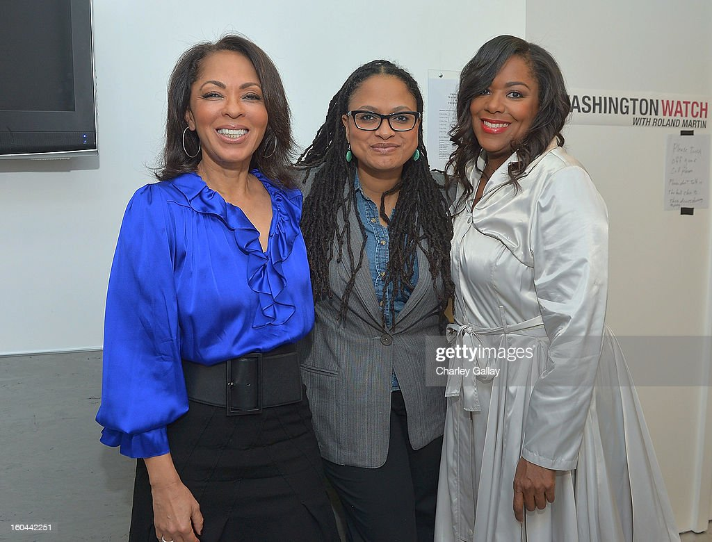 Producer <a gi-track='captionPersonalityLinkClicked' href=/galleries/search?phrase=Debra+Martin+Chase&family=editorial&specificpeople=876964 ng-click='$event.stopPropagation()'>Debra Martin Chase</a>, director Ava Duvernay and producer D'Angela Proctor attend the taping of TV One's 'Washington Watch With Roland Martin' Hollywood Special at KCET Studios on January 31, 2013 in Hollywood, California.