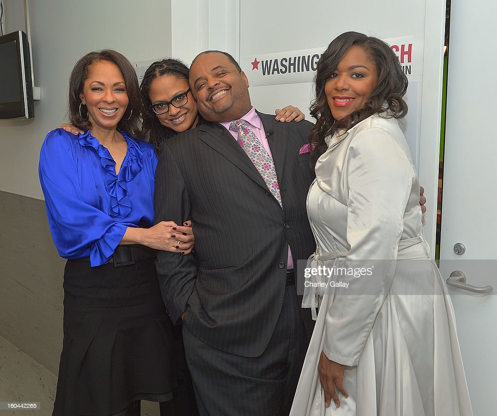 Producer <a gi-track='captionPersonalityLinkClicked' href=/galleries/search?phrase=Debra+Martin+Chase&family=editorial&specificpeople=876964 ng-click='$event.stopPropagation()'>Debra Martin Chase</a>, director Ava Duvernay, host <a gi-track='captionPersonalityLinkClicked' href=/galleries/search?phrase=Roland+Martin&family=editorial&specificpeople=5490103 ng-click='$event.stopPropagation()'>Roland Martin</a> and producer D'Angela Proctor attend the taping of TV One's 'Washington Watch With <a gi-track='captionPersonalityLinkClicked' href=/galleries/search?phrase=Roland+Martin&family=editorial&specificpeople=5490103 ng-click='$event.stopPropagation()'>Roland Martin</a>' Hollywood Special at KCET Studios on January 31, 2013 in Hollywood, California.