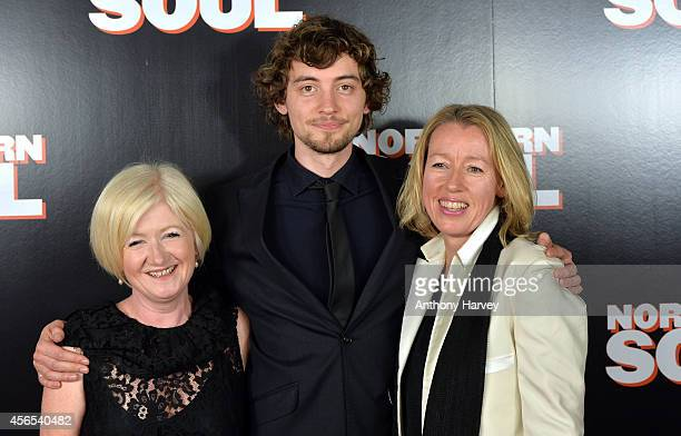 Producer Deddie Gray actor Joshua Whitehouse and Director Elaine Constantine attend the UK Gala screening of 'Northern Soul' at Curzon Soho on...