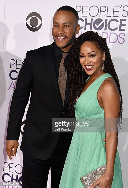 Producer DeVon Franklin and actress Meagan Good attend the People's Choice Awards 2016 at Microsoft Theater on January 6 2016 in Los Angeles...