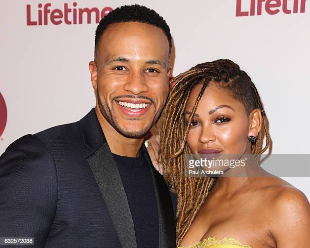 Producer DeVon Franklin and Actress Meagan Good attend the screening of 'Love By The 10th Date' at The London West Hollywood at Beverly Hills on...