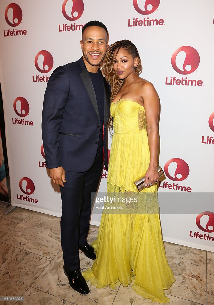 Producer DeVon Franklin (L) and Actress Meagan Good (R) attend the screening of 'Love By The 10th Date' at The London West Hollywood at Beverly Hills on January 23, 2017 in West Hollywood, California.