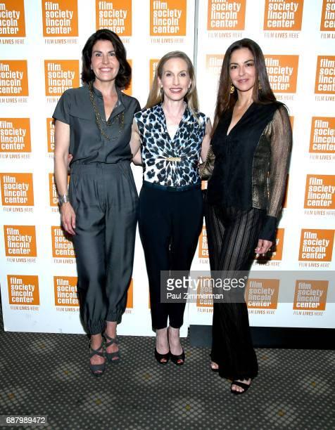 Producer Diana DiMenna ballerina Wendy Whelan and Dayssi Orlarte de Kanavas attend the 'Restless Creature Wendy Whelan' Opening Night Screening at...
