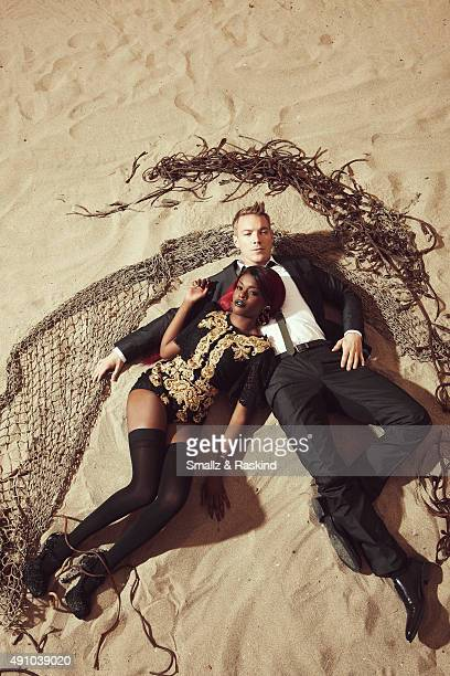 Producer Diplo and rapper Azealia Banks are photographed for Vibe Magazine on April 30 2012 in Los Angeles California