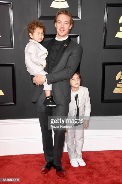 Producer Diplo and sons attend The 59th GRAMMY Awards at STAPLES Center on February 12 2017 in Los Angeles California