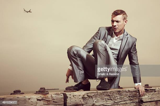 Producer Diplo is photographed for Vibe Magazine on April 30 2012 in Los Angeles California