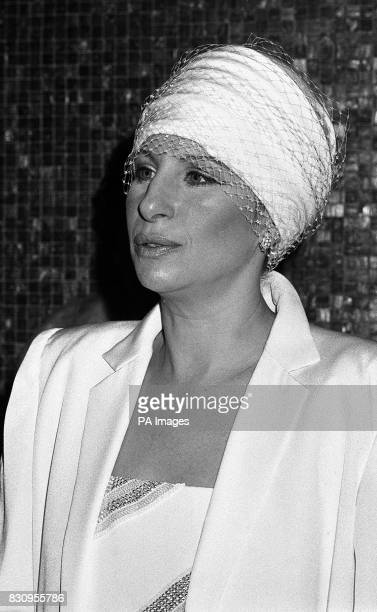 Producer director and star of the film 'Yentl' Barbra Streisand in London when she attended the royal charity premiere of her film at Leicester Sq...
