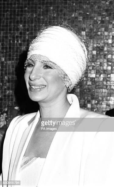 Producer director and star of 'Yentl' Barbra Streisand in London for the royal charity premiere of her film attended by Princess Alexandria in aid of...