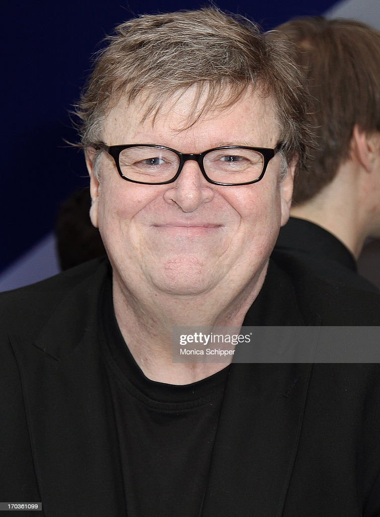 Producer, director and writer Michael Moore attends Museum of the Moving Image Inaugural Envision Award Gala Dinner at Museum of the Moving Image on June 11, 2013 in New York City.