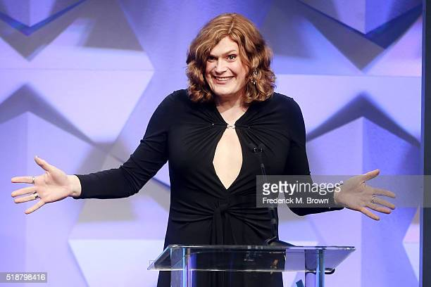 Producer / Director Lilly Wachowski accepts award for Outstanding Drama Series onstage during the 27th Annual GLAAD Media Awards at the Beverly...