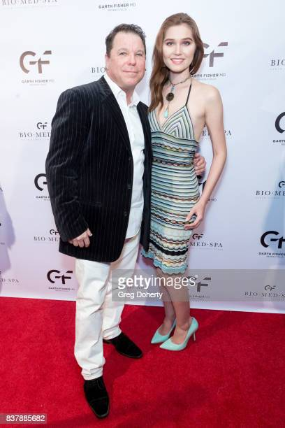Producer Director Lyle Howry and Actress singersongwriter and model Serena Laurel attend the Official Launch Party Of Dr Garth Fisher's BioMed Spa at...