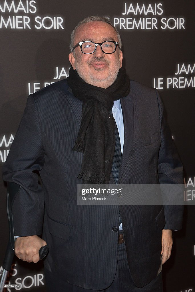 Producer Dominique Farrugia attends the 'Jamais le premier soir' Premiere on December 19, 2013 in Paris, France.