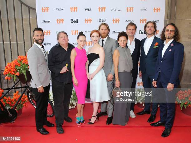 Producer Don Carmody actors Ksenia Solo Anneke Sluiters Gijs Naber Lidia Vitale and crew attend the premiere of 'Tulipani Love Honour And A Bicycle'...