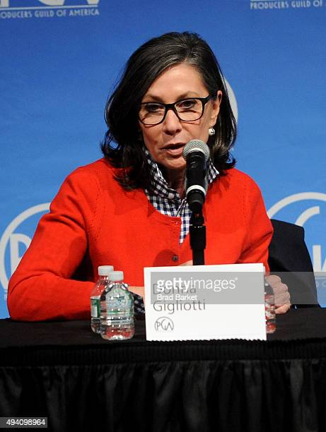 Producer Donna Gigliotti speaks during the PGA Produced By New York Conference at Time Warner Center on October 24 2015 in New York City