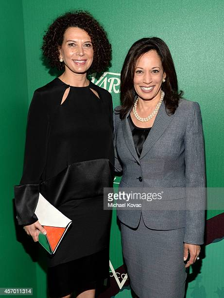Producer Donna Langley and California Attorney General Kamala Harris attend the 2014 Variety Power of Women presented by Lifetime at Beverly Wilshire...