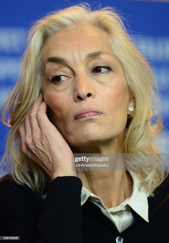 Producer Dora Bouchoucha attends a press conference of the film 'Inhebbek Hedi (Heidi)' by Tunisian director Mohamed Ben Attia in competition at the 66th Berlinale Film Festival in Berlin on February 12, 2016. / AFP / John MACDOUGALL