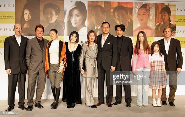 Producer Douglas Wick actresses Gong Li Kaori Momoi Michelle Yeoh actors Ken Watanabe Koji Yakusho actress Yoki Kudo and Suzuka Ogo and producer Lucy...