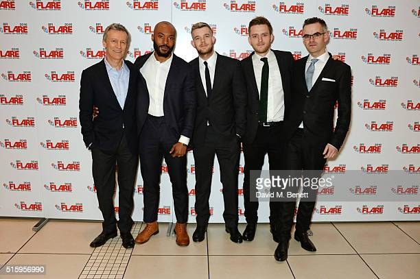 Producer Duncan Kenworthy Arinze Kene Russell Tovey director Ben A Williams and writer John Donnelly attend the UK Premiere of 'The Pass' the opening...