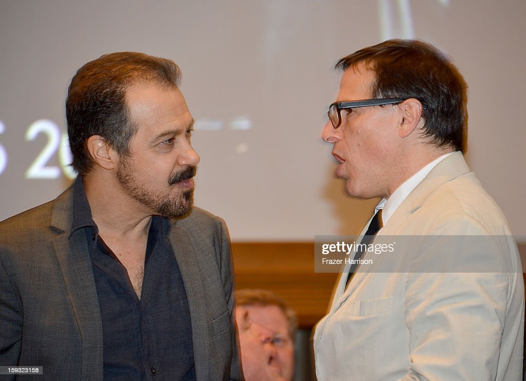 Producer Edward Zwick (L) and director David O. Russell attend the 13th Annual AFI Awards at Four Seasons Los Angeles at Beverly Hills on January 11, 2013 in Beverly Hills, California.