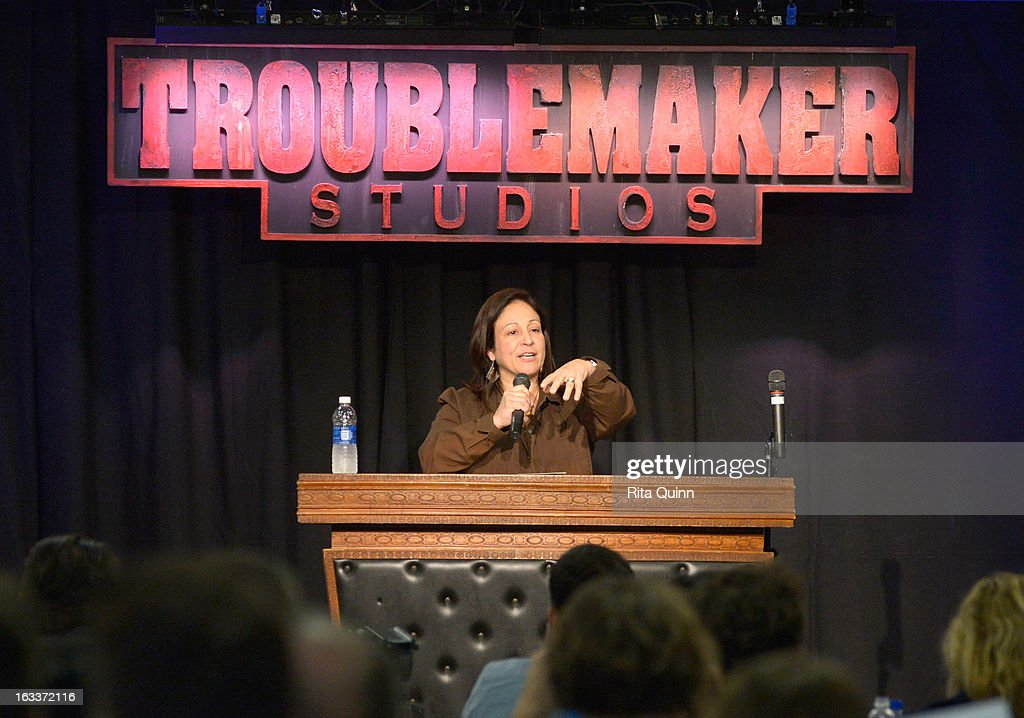 Producer Elizabeth Avellan speaks at the Private Filmmaker Luncheon during the 2013 SXSW Music, Film + Interactive Festival at Troublemaker Studios on March 8, 2013 in Austin, Texas.