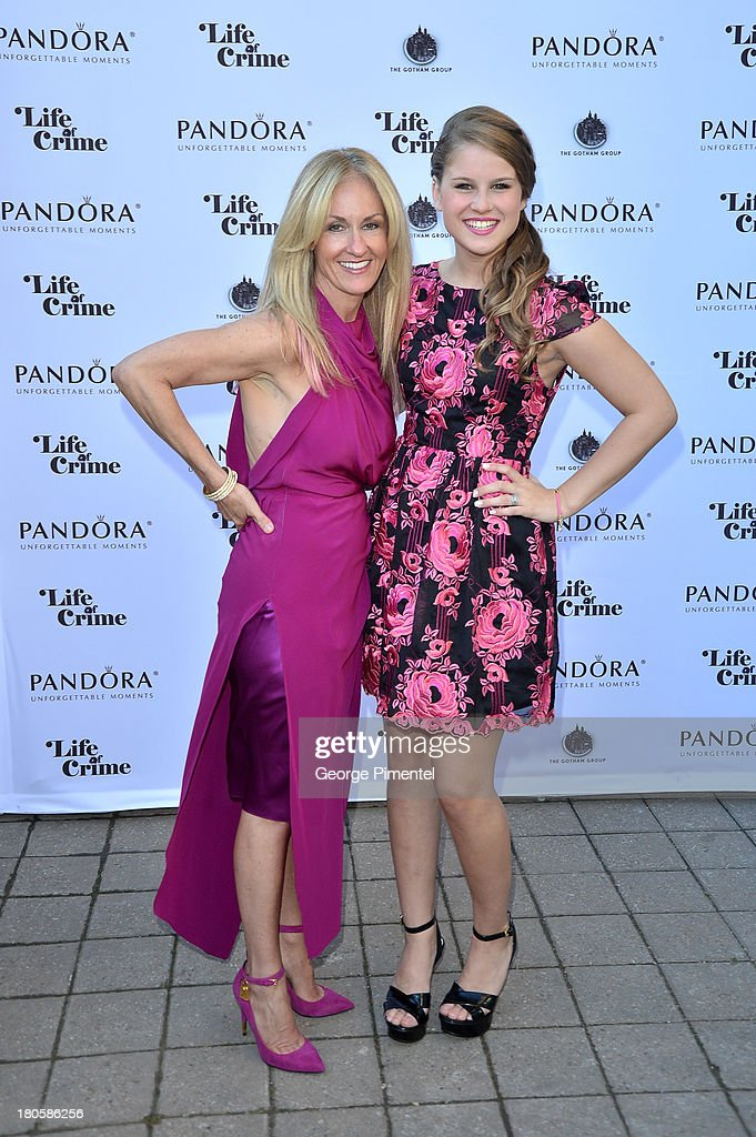 Producer Ellen Goldsmith-Vein (L) and actress Jenna Nye attend the 'Life of Crime' cocktail reception presented by PANDORA Jewelry at Hudson Kitchen during the 2013 Toronto International Film Festival on September 14, 2013 in Toronto, Canada.