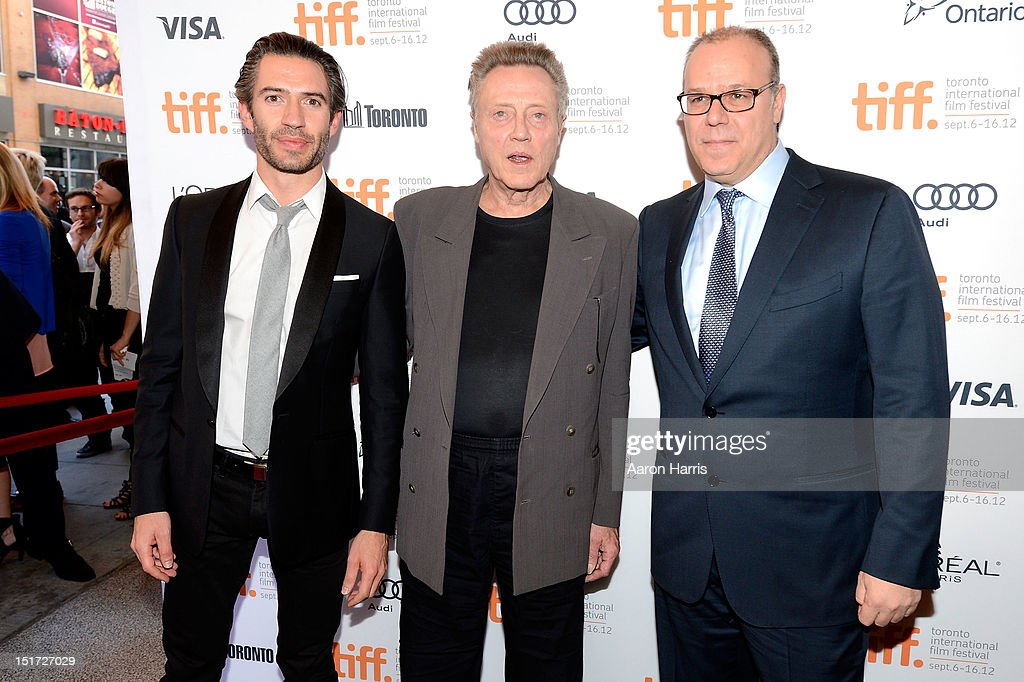 Producer Emanuel Michael, actor Christopher Walken and director Yaron Zilberman attend the 'A Late Quartet' Premiere at the 2012 Toronto International Film Festival at The Elgin on September 10, 2012 in Toronto, Canada.