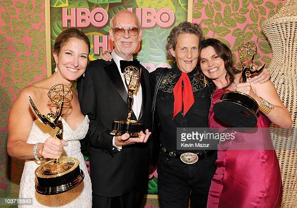 Producer Emily Gerson Saines director Mick Jackson Temple Grandin and actress Julia Ormond attend HBO after party for the 62nd Primetime Emmy Awards...