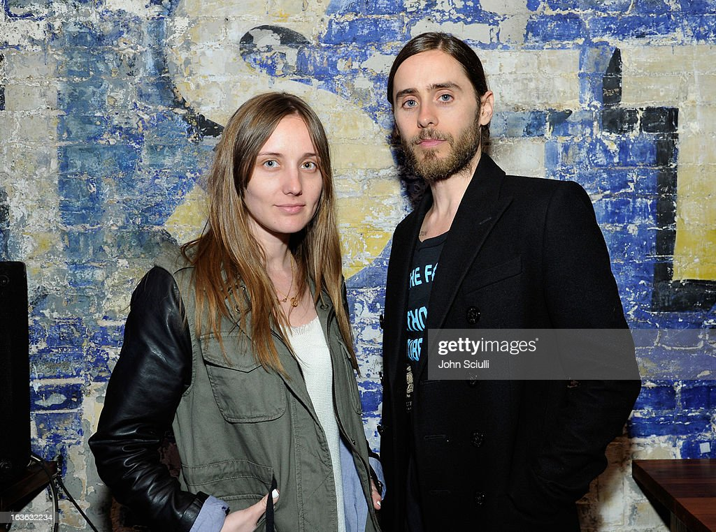 Producer Emma Ludbrook and director <a gi-track='captionPersonalityLinkClicked' href=/galleries/search?phrase=Jared+Leto&family=editorial&specificpeople=214764 ng-click='$event.stopPropagation()'>Jared Leto</a> attend the Samsung Galaxy 'Artifact' after party at SXSW on March 13, 2013 in Austin, Texas.