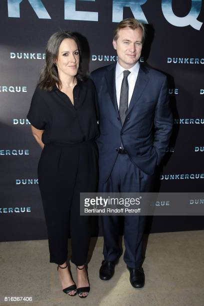 Producer Emma Thomas and Director Christopher Nolan attend 'Dunkirk' photocall at Cinematheque Francaise on July 17 2017 in Paris France