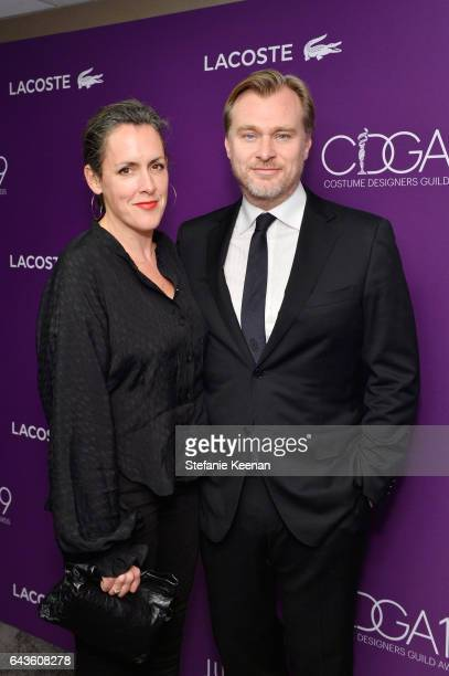 Producer Emma Thomas and director Christopher Nolan attend The 19th CDGA with Presenting Sponsor LACOSTE at The Beverly Hilton Hotel on February 21...
