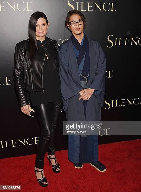 Producer Emma Tillinger Koskoff and actor Yosuke Kubozuka attend the premiere of Paramount Pictures' 'Silence' at the Directors Guild Of America on...
