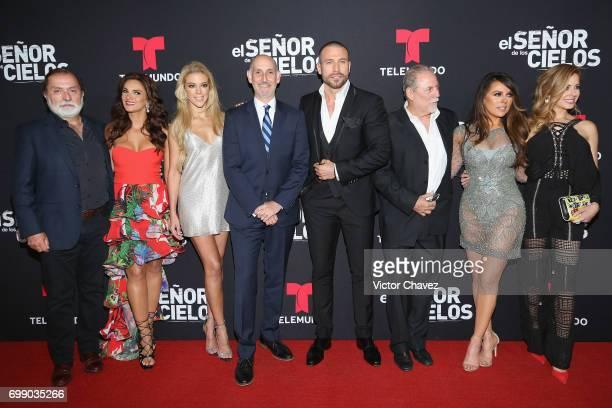 Producer Epigmenio Ibarra Mariana Seoane Fernanda Castillo guest Rafael Amaya guest Rafael Amaya Vanessa Villela and Carmen Aub attend 'El Senor De...