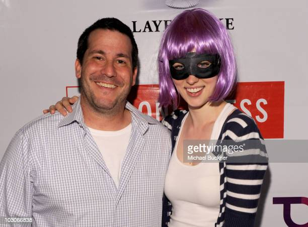 Producer Eric Gitter and actress Deborah Ann Woll attend Oni Press Paradigm Party during ComicCon 2010 at The Keating Hotel on July 23 2010 in San...